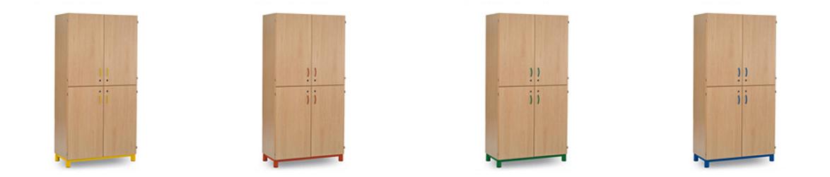 equipamiento escuelas infantiles armarios cuatro puertas