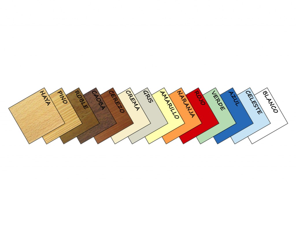 equipamiento escuelas infantiles colores termolaminados
