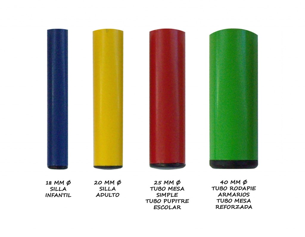 equipamiento escuelas infantiles grosores de tubos